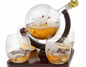 Godinger Whiskey Globe Decanter